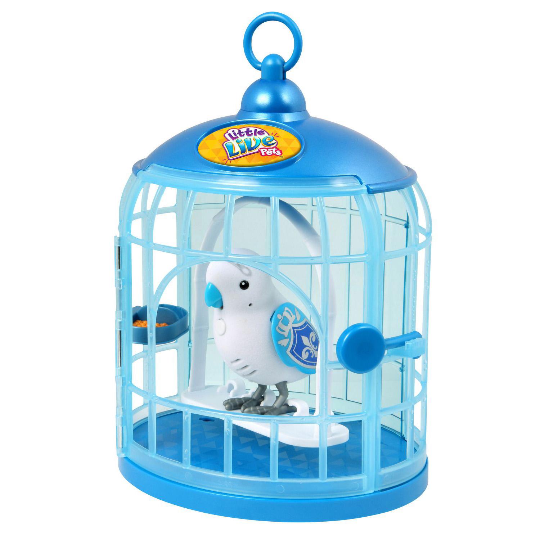 Говорящая птичка Little Live Pets - Принц в голубой клетке
