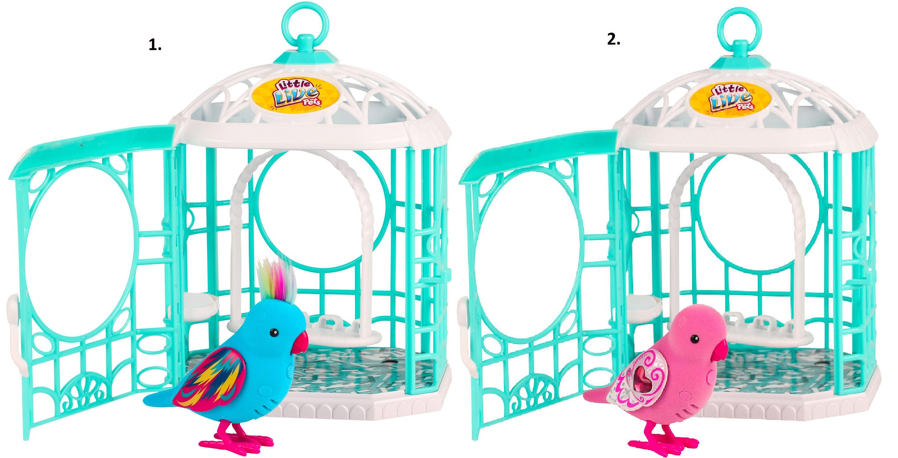 Интерактивная птичка в клетке Little Live Pets (движение, звук)