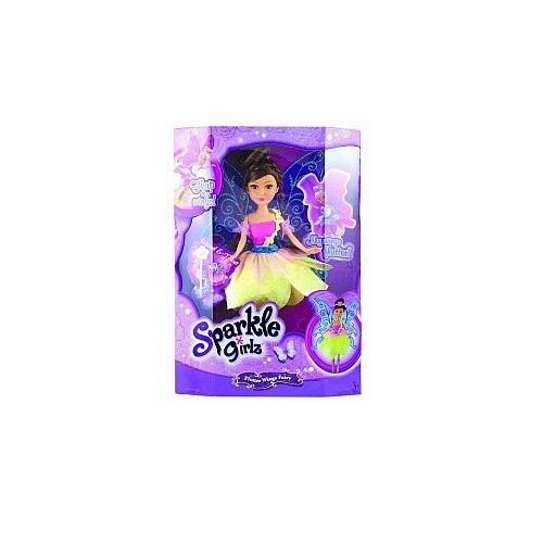 """Кукла Sparkle Girlz """"Цветочная фея с аксессуарами"""" - Шатенка в розово-желтом платье, 28 см"""