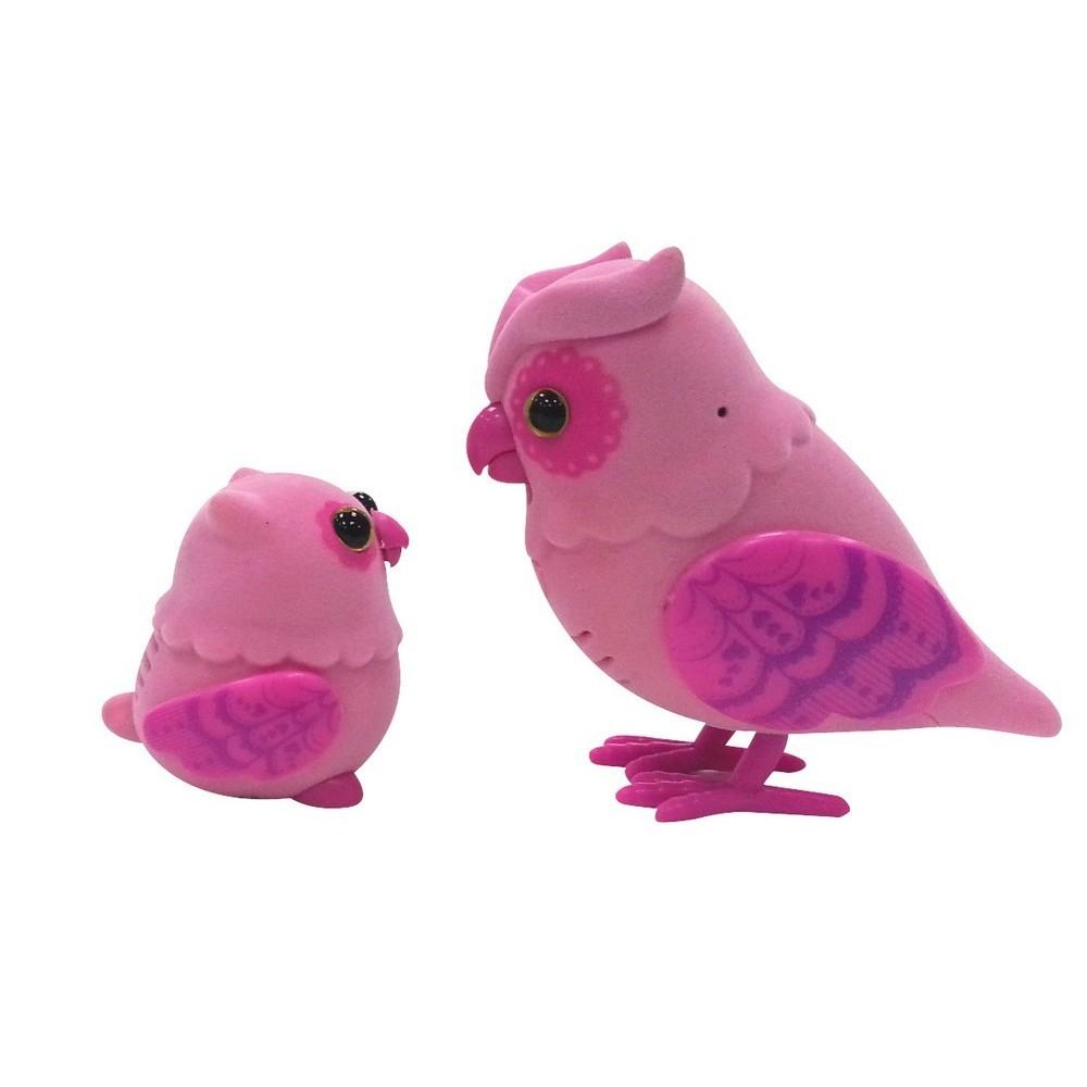 Набор Little Live Pets - Говорящая Сова с Совенком, розовый