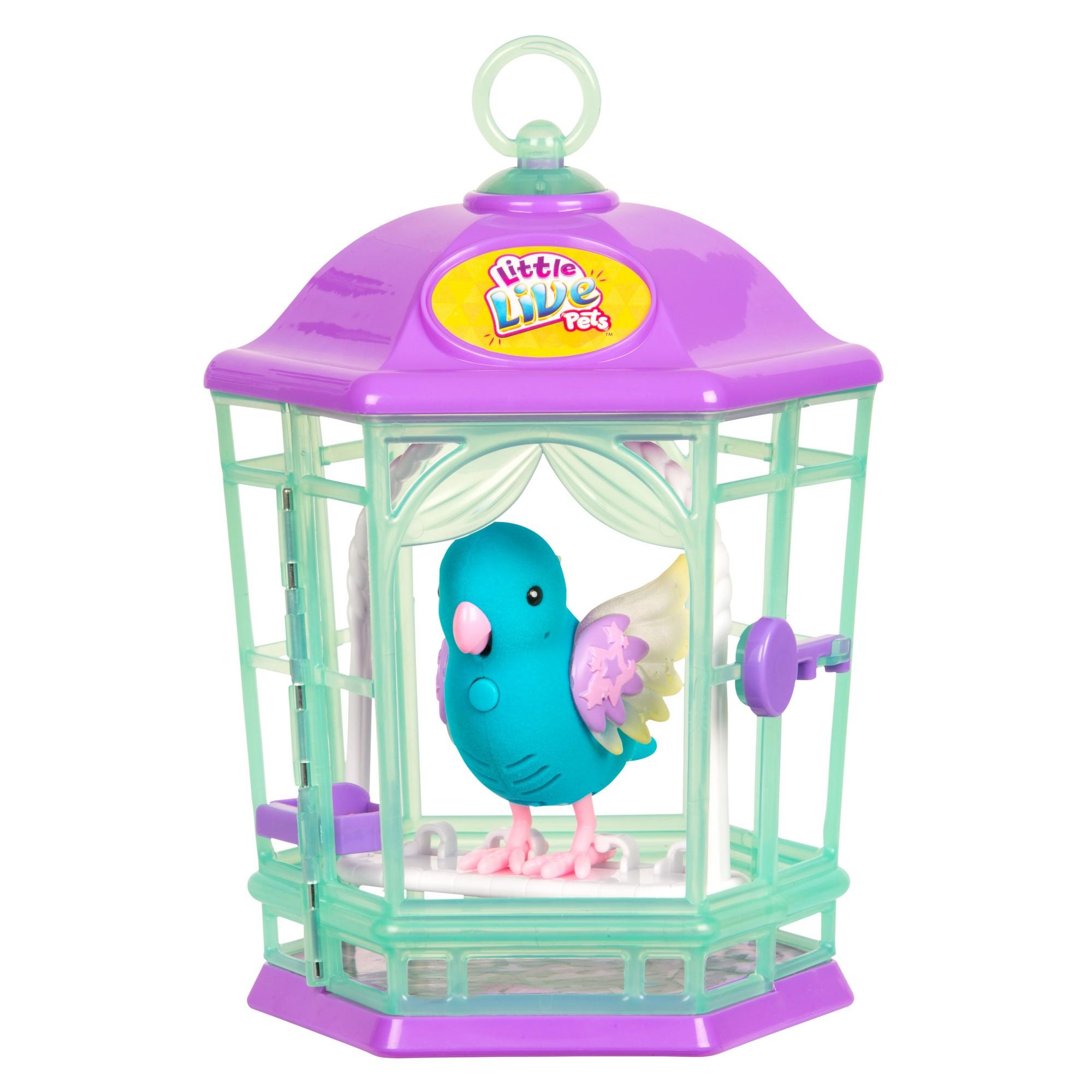 Птичка Little Live Pets в клетке - Небесный колокольчик