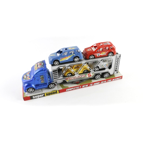 Инерционный трейлер Super Speed с 4 машинками