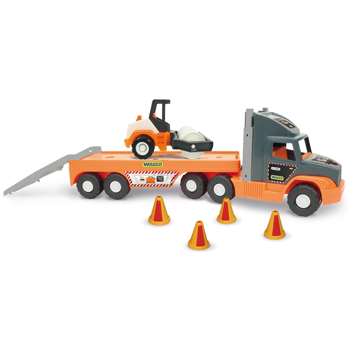 Игровой набор Super Tech Truck - Грузовик с катком для асфальта