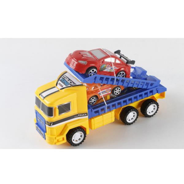 Инерционный трейлер Truck King с 2 машинками