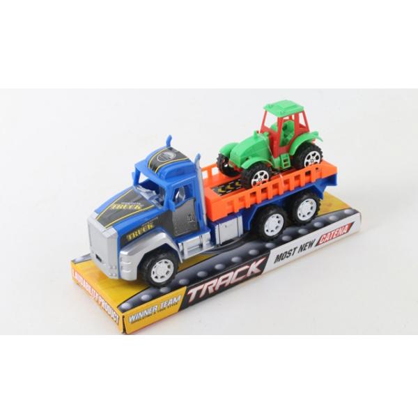 Инерционный трейлер-погрузчик с трактором