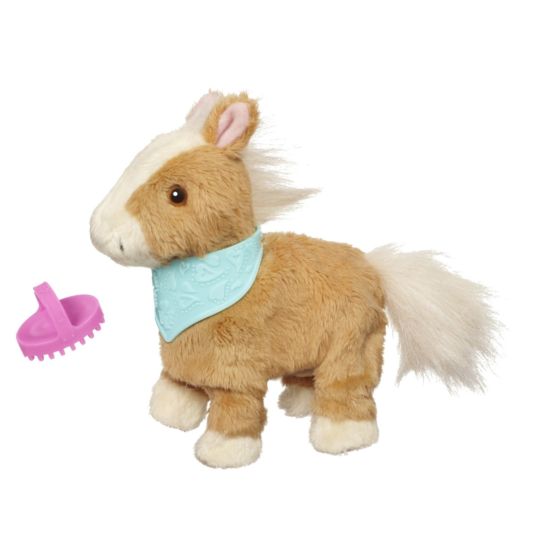 Ходячий ласковый пони FurReal Friends, бежевый