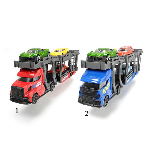 Игрушечный автовоз с прицепом и 3 машинками