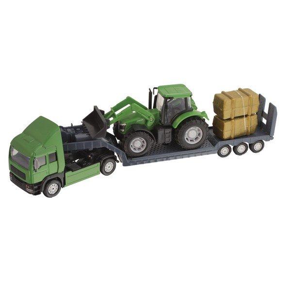 Фермерский грузовой автомобиль Teamsterz с трактором, зеленый