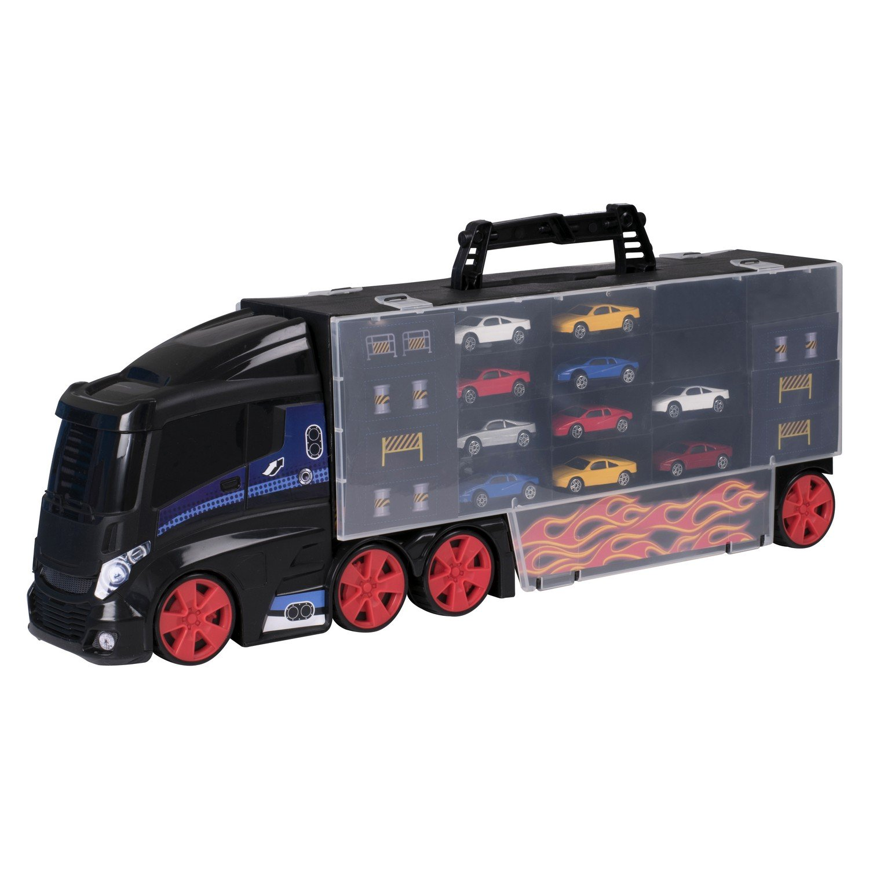 """Игровой набор Teamsterz """"Автоперевозчик с 10 машинками"""""""