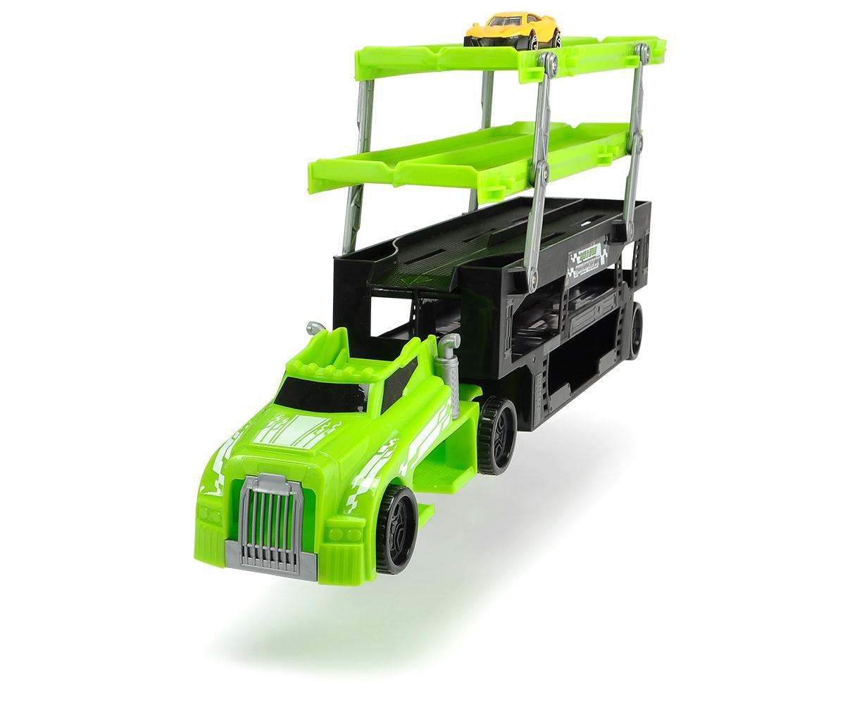 Автовоз с машинкой, 5 уровней, зеленый, 44.5 см