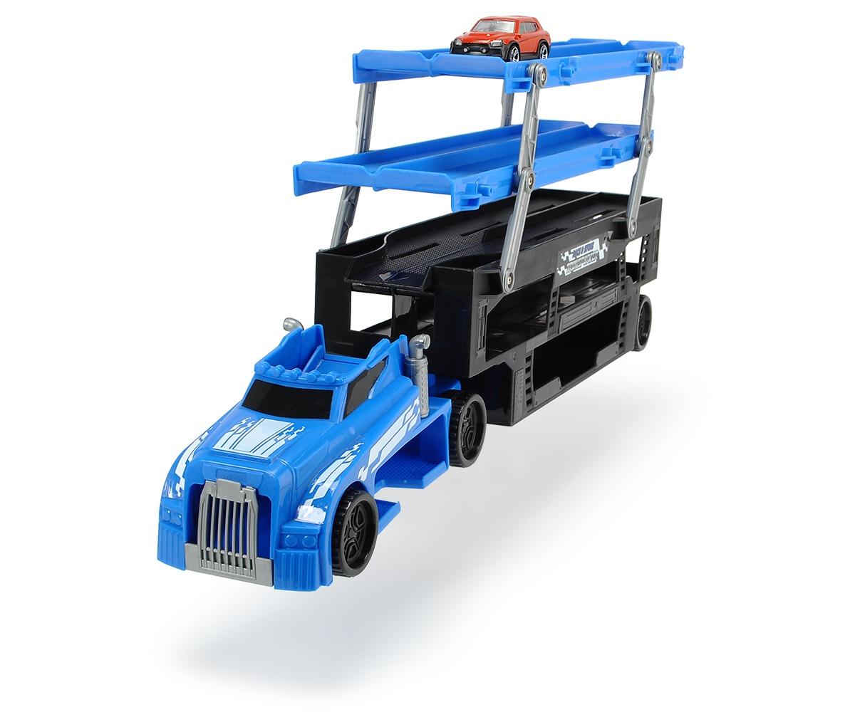 Автовоз с машинкой, 5 уровней, синий, 44.5 см