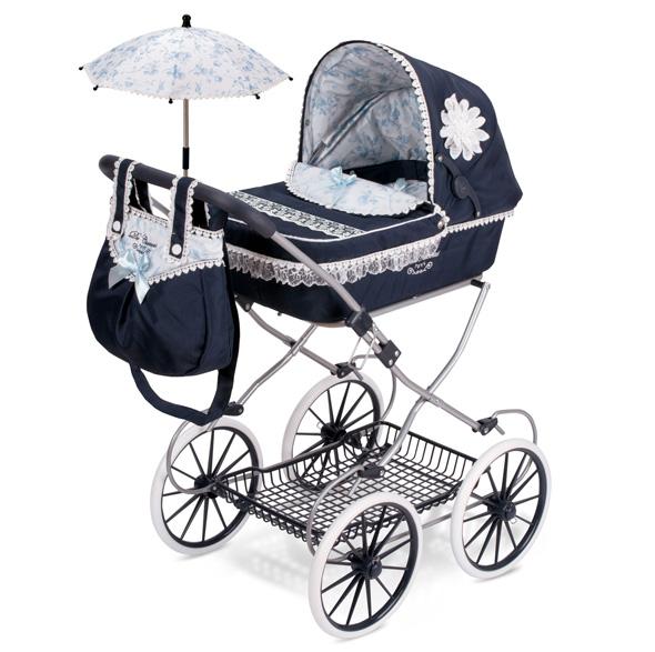 """Коляска для куклы """"Романтик"""" с сумкой и зонтиком, 81 см"""