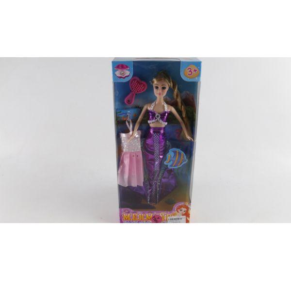 Кукла-русалка с ногами и аксессуарами