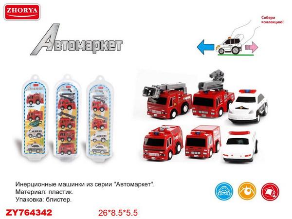 """Машинки """"Мегамоторы"""", набор 4 штуки, инерционные,в ассортименте, пластмасса, в упаковке с хеддером, 26х8,5х5,5 см."""
