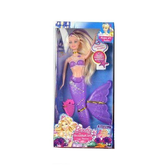 Кукла-русалка Beautiful Girl с аксессуарами, фиолетовая