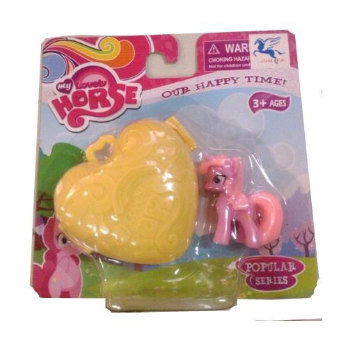 Фигурка пони My Lovely Horse с аксессуаром, розово-сиреневая