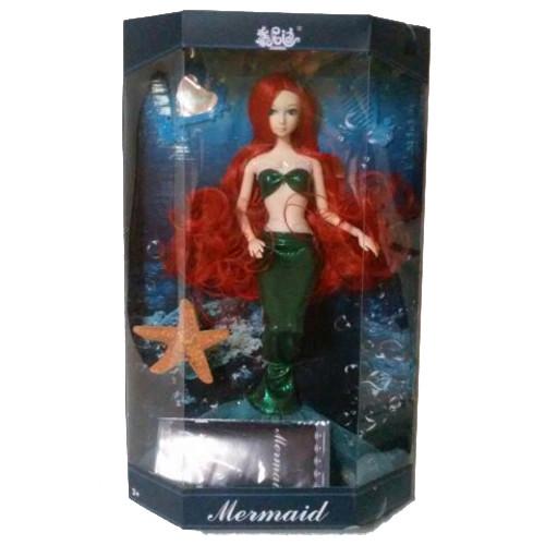Кукла-русалка Mermaid в зеленом наряде, 33 см
