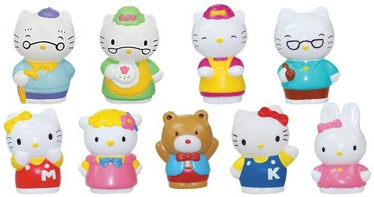 "Набор фигурок Hello Kitty ""Друзья и семья"", 9 шт."