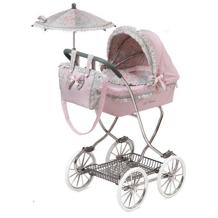 """Коляска для кукол """"Романтик"""" с сумкой и зонтом, розовая, 90 см"""