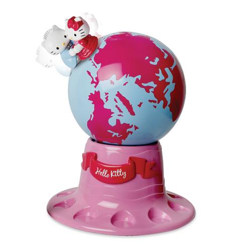Вращающийся глобус Hello Kitty (звук)