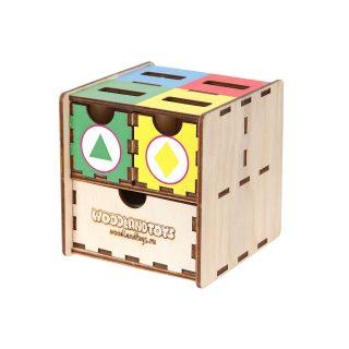 Комодик-куб Фигуры цвет