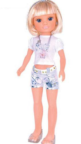 Кукла Нэнси с короткой стрижкой - Серебряная