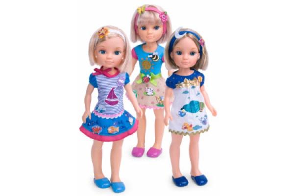 Кукла Нэнси (Nansy) с короткой стрижкой+модные наклейки