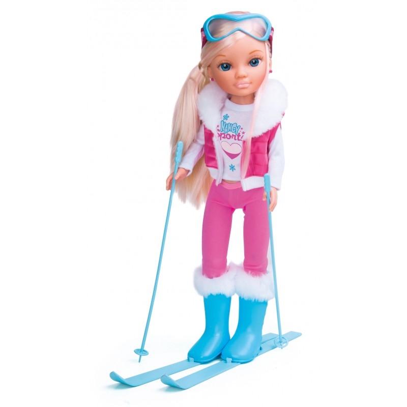 Кукла Ненси - спортсменка в розовом - Лыжный спорт