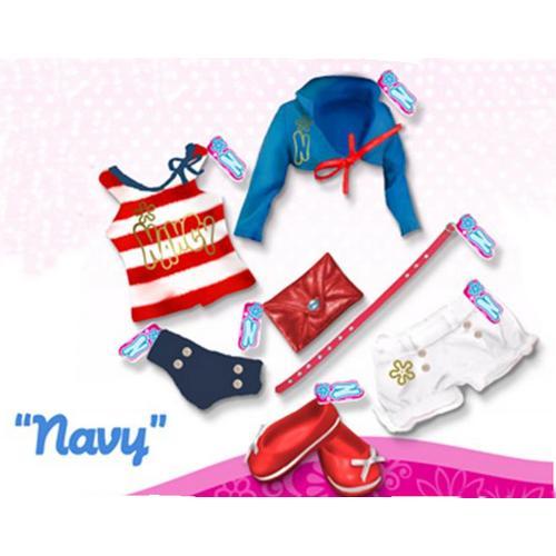 Комплект одежды для куклы Нэнси - Морской
