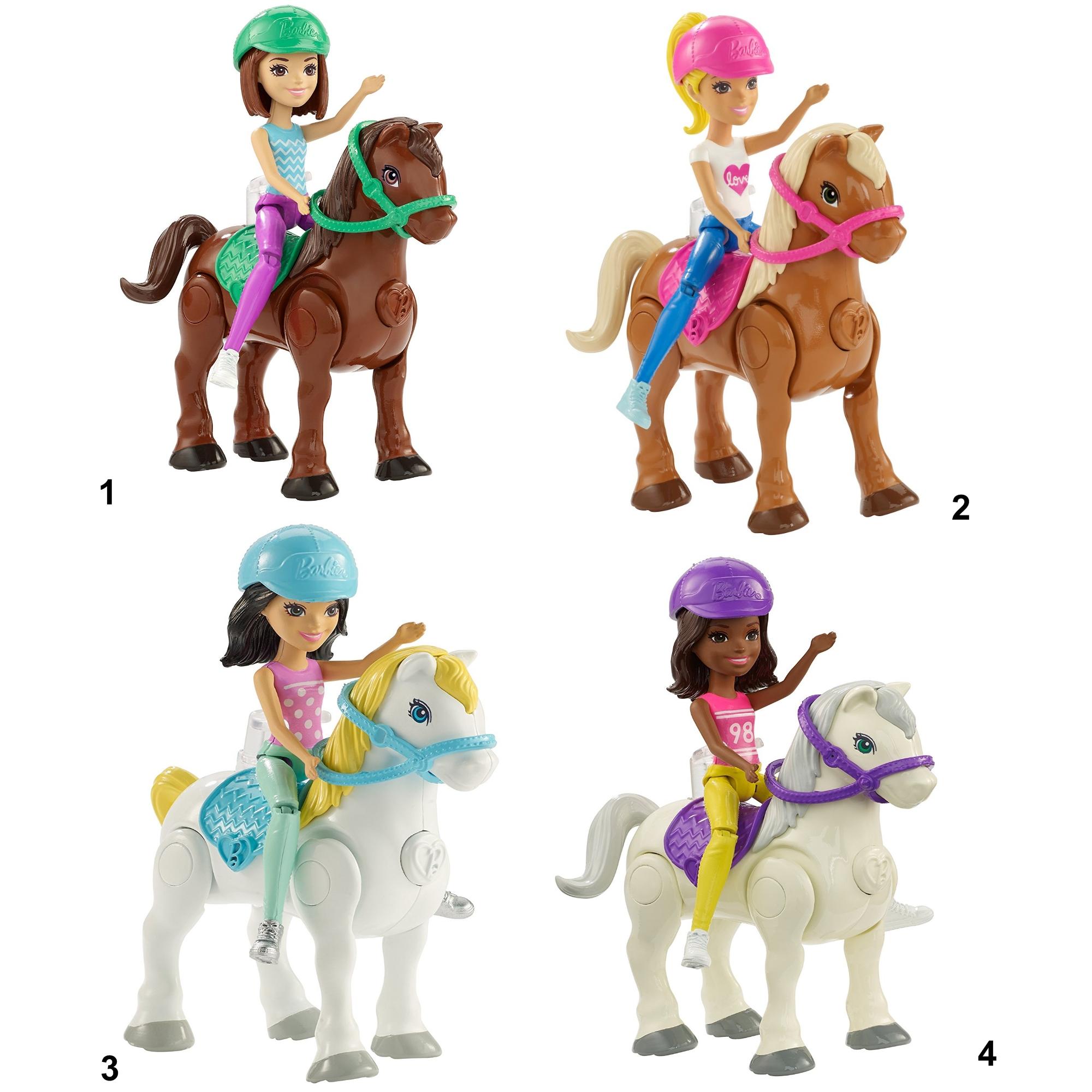 """Игровой набор Барби """"В движении"""" - Мини-кукла и пони"""