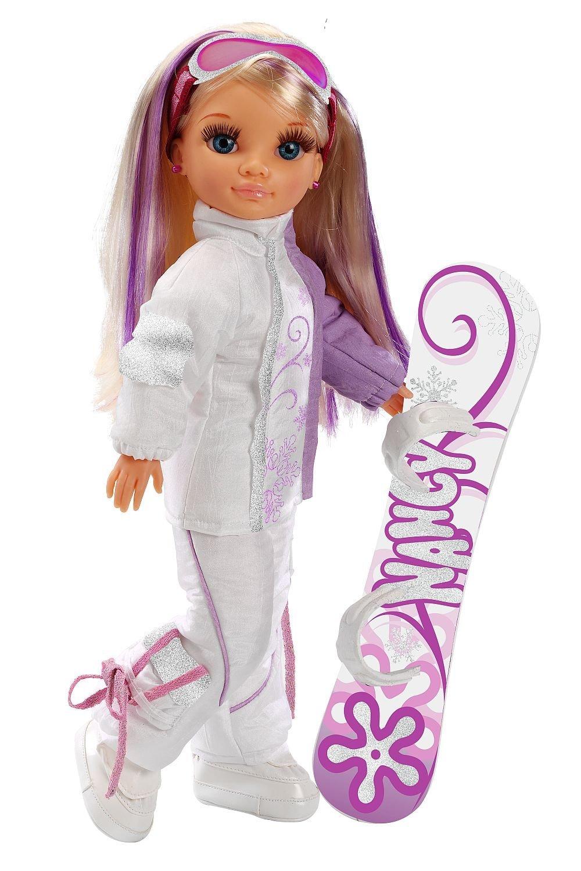 "Кукла Нэнси ""Зимняя красавица"" в костюме для сноуборда"