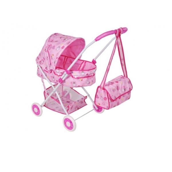 Игрушечная коляска для кукол с сумкой