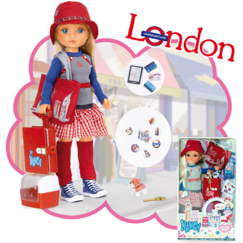 """Кукла Нэнси """"Путешественница"""" - Лондон"""