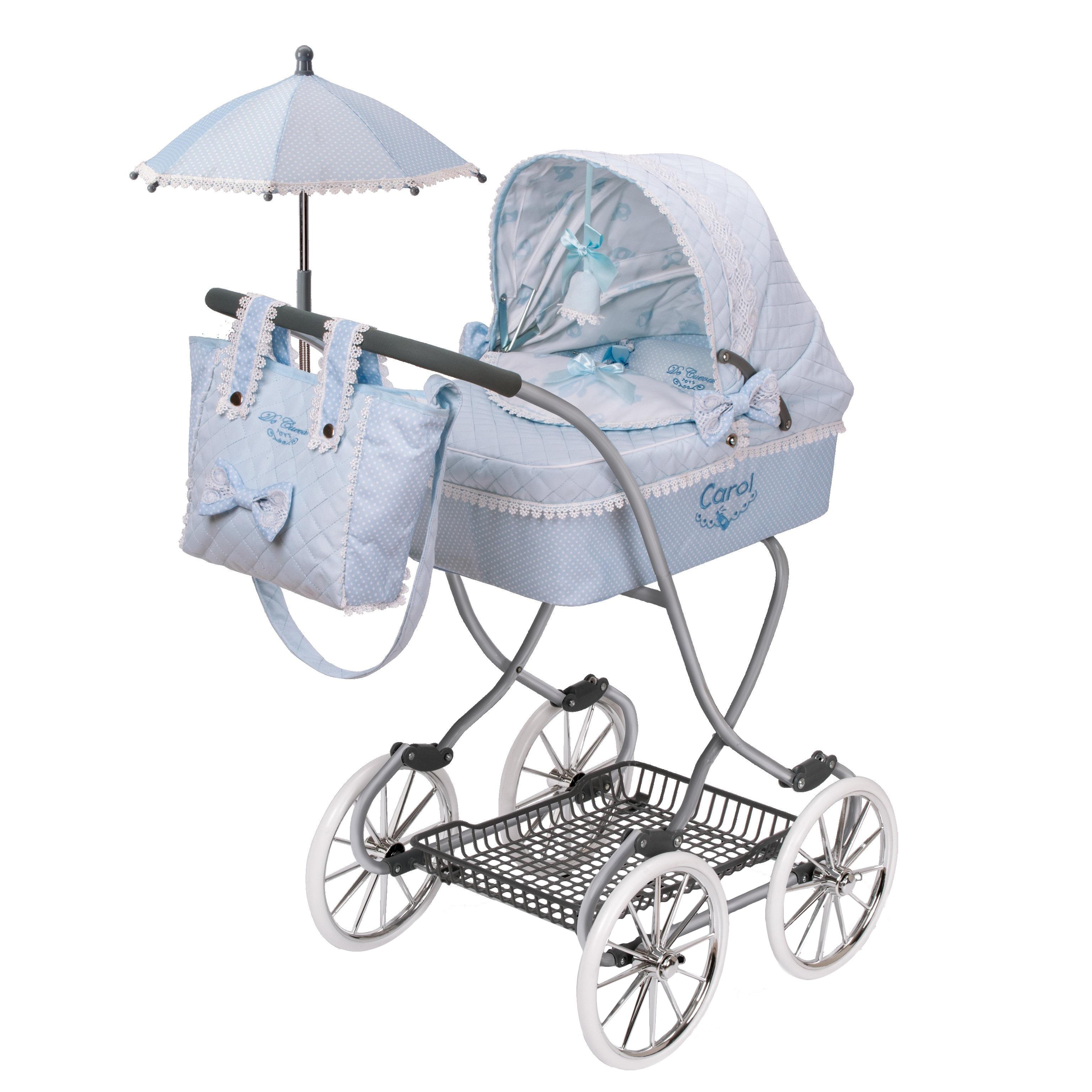 """Коляска """"Кэрол"""" с сумкой и зонтиком, 90 см"""