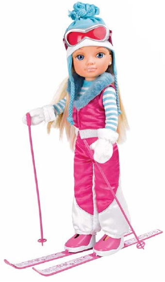 """Кукла Нэнси """"Зимняя красавица"""" - На лыжах"""