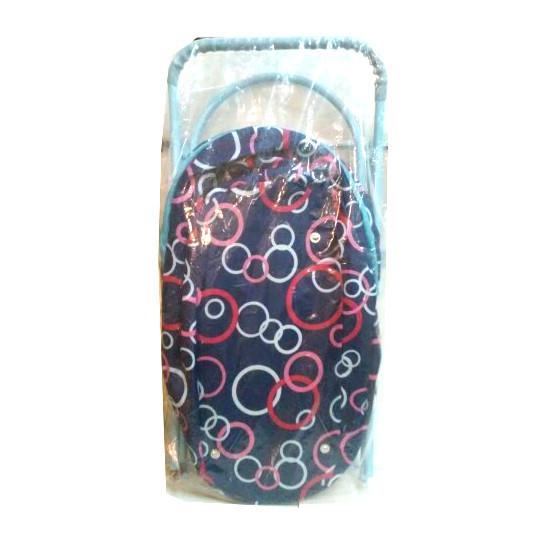Коляска для кукол с сумкой и корзиной, синяя