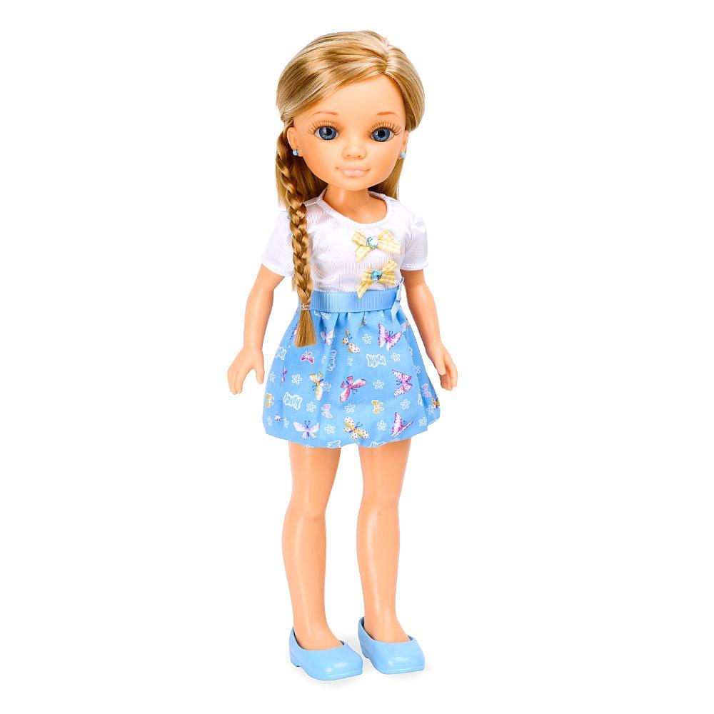 """Кукла Нэнси """"Плетение косичек"""", в голубом"""