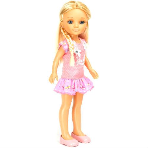"""Кукла Нэнси """"Плетение косичек"""", в розовом"""