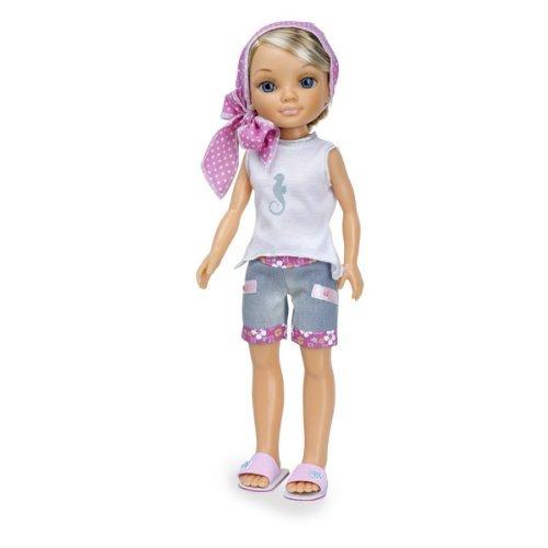 Кукла Нэнси на отдыхе в розовом платке - Русая, 43 см