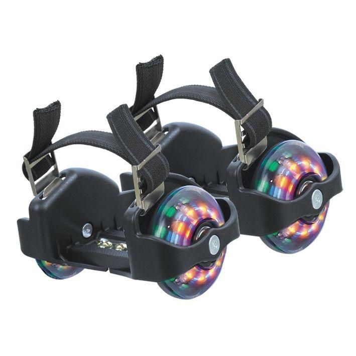 Накладные мини-ролики Flashing Roller со светящимися колесами, черные