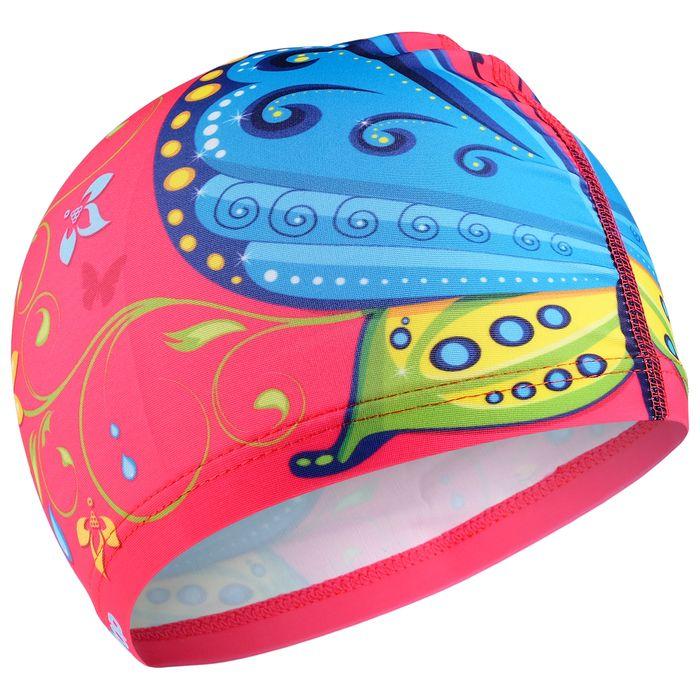 Шапочка для плавания «Бабочка», детская, текстиль