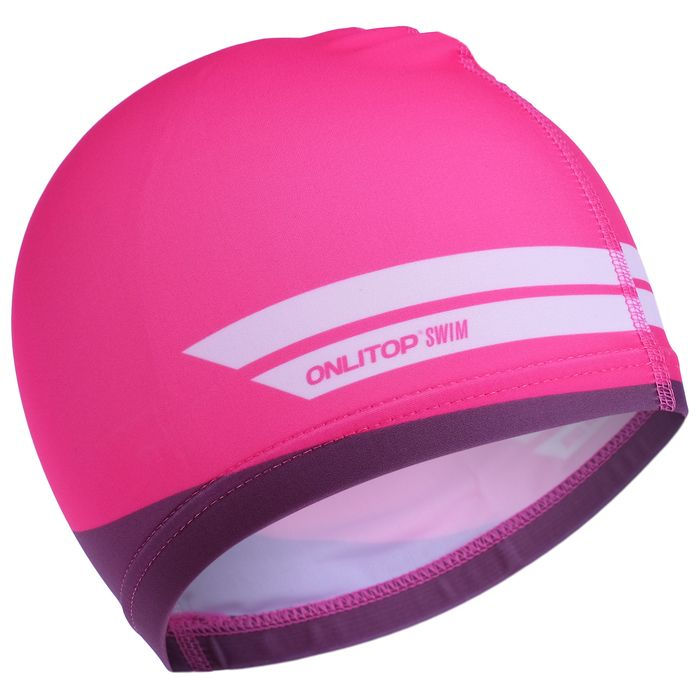 Шапочка для плавания детская, розовая