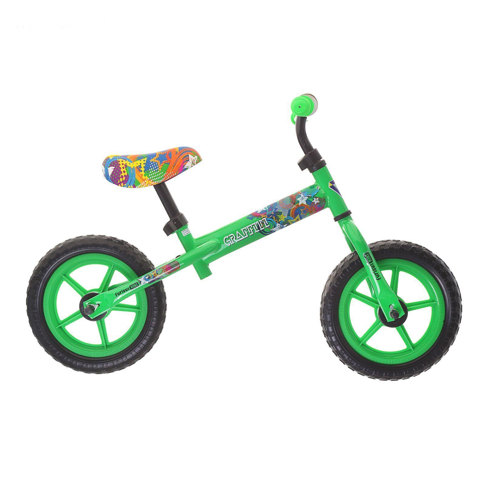 """Детский беговел Furious 12"""", зеленый"""