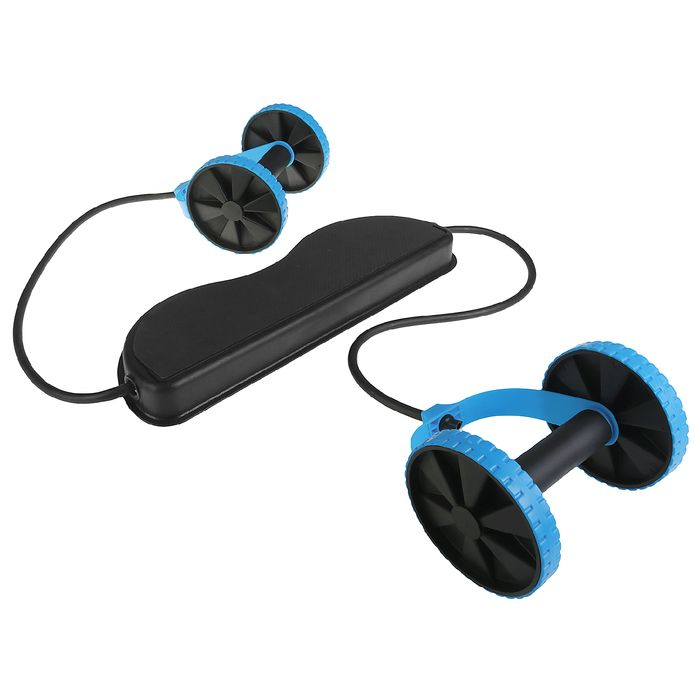 Тренажер-эспандер с платформой, многофункциональный, цвет синий