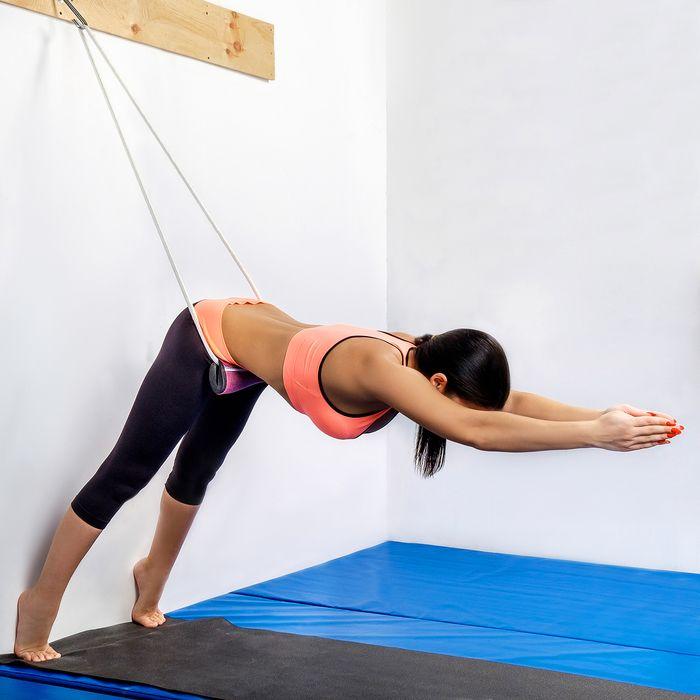 Набор веревок настенных для йоги Курунта (в наборе 4 веревки с болстерами)