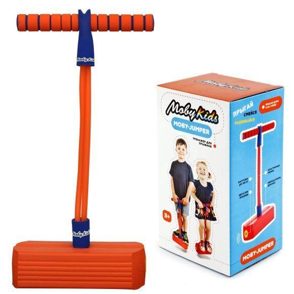 Тренажер для прыжков Moby-Jumper (звук), оранжевый