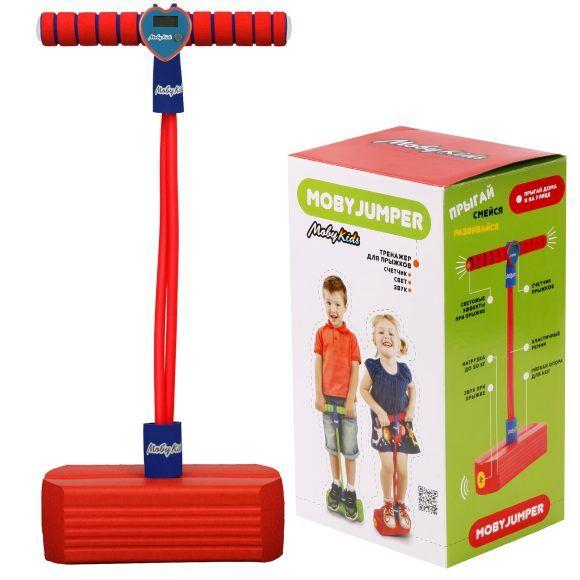 Детский тренажер для прыжков Моби Джампер (свет, звук), красный