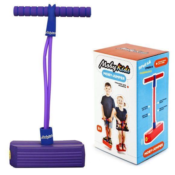 Тренажер для прыжков Moby-Jumper (звук), фиолетовый
