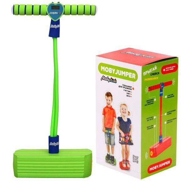 Детский тренажер для прыжков Моби Джампер (свет, звук), зеленый