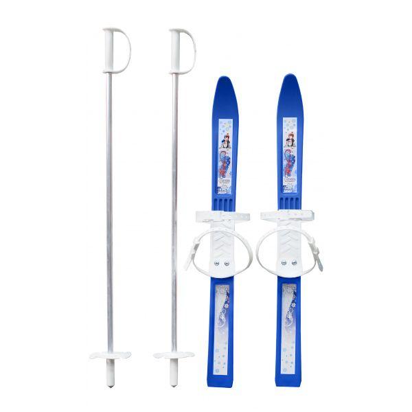 """Детские лыжи """"Олимпик-спорт"""" с палками, синие, 75 см"""